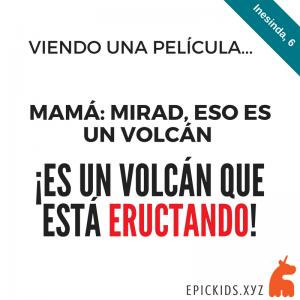Un volcán eructando