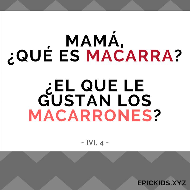Mama, qué es macarra?