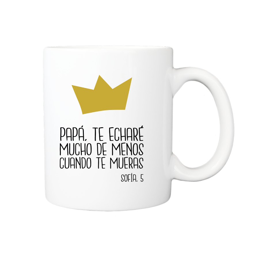 taza crown personalizada