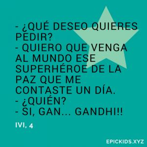 Gandhi el superhéroe