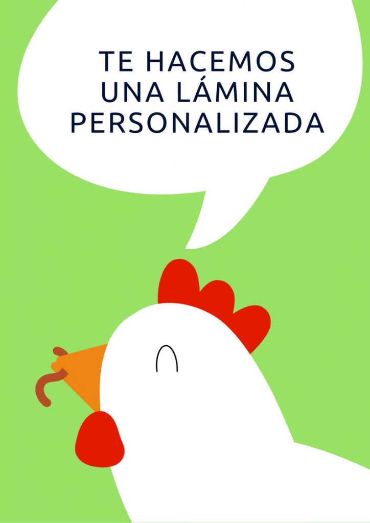 Lámina personalizada con gallina