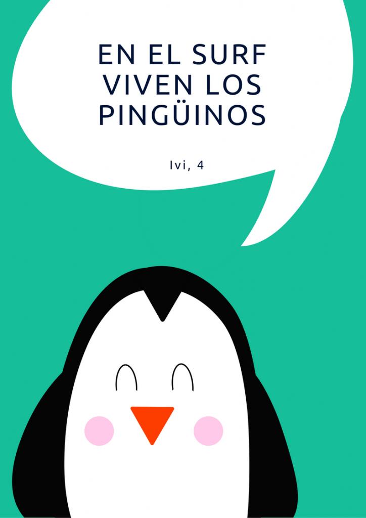 Lámina personalizada con pingüino